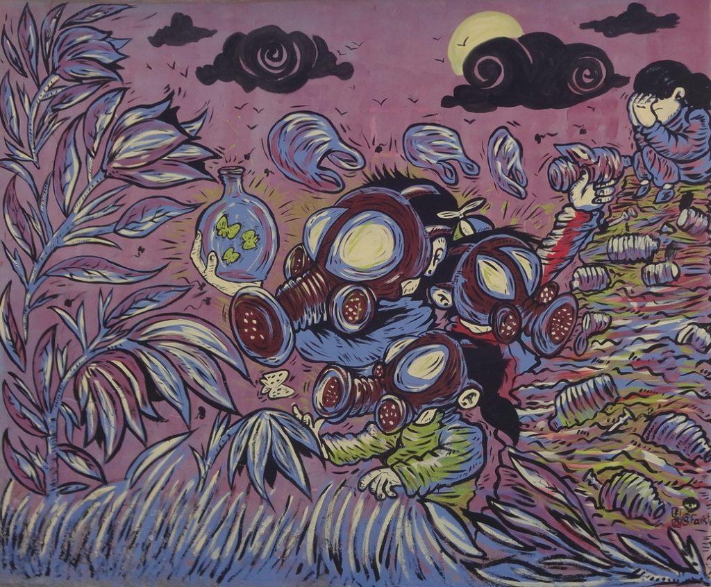 Mural: Contaminación en el C.P. El Milagro.