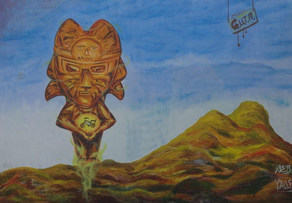 Mural: Identidad de mi pueblo El Milagro.